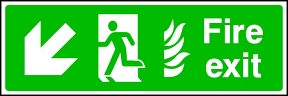 Fire Exit Flame (left-down)