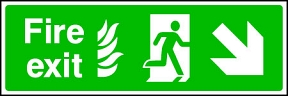 Fire Exit Flame (right-down)