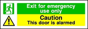 Emergency Exit Only (Alarmed)