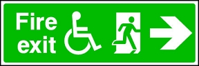 Disabled Exit Right