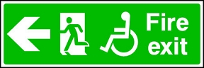 Disabled Exit Left