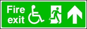 Disabled Exit Ahead