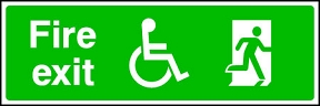 Disabled Fire Exit