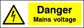 Danger Mains Voltage Landscape