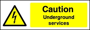 Caution Underground Services Landscape