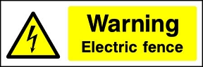Warning Electric Fence Landscape
