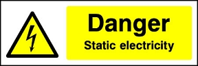 Danger Static Electricity Landscape