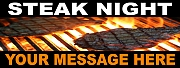 Steak Night Banners