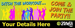 Zumba Poster Amp Banners Fitness Class Signs Online Uk