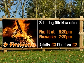 Bonfire Nght Display Banners