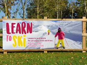 Learn To Ski Banners