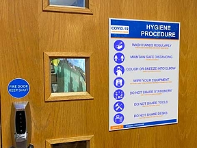 Covid Hygiene Procedure Signs