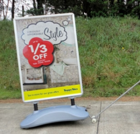 Trolley for all forecourt signs