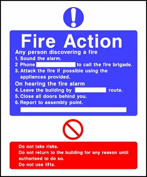 Fire Action Notice Amp Safety Signs Assembly Point Sign Uk