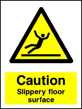 Caution Slippery Surface