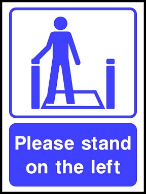 Lift & Escalator Safety Signs