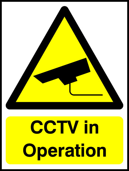 Cctv In Operation Warning Signs Protect Your Property