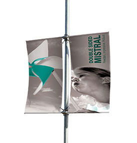 Wall Post Mounted Banners